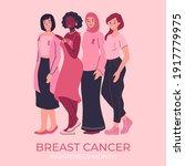 breast cancer awareness month...   Shutterstock .eps vector #1917779975