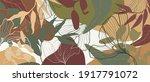 summer tropical leaves... | Shutterstock .eps vector #1917791072