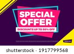 special offer discounts up to... | Shutterstock .eps vector #1917799568