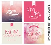 abstract mother's day... | Shutterstock .eps vector #191780066