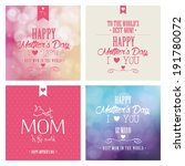 abstract mother's day... | Shutterstock .eps vector #191780072