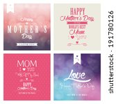 abstract mother's day... | Shutterstock .eps vector #191780126