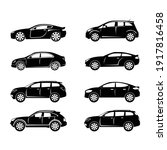 set of silhouette automobile... | Shutterstock .eps vector #1917816458