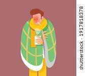 flu  sick man  viral disease ... | Shutterstock .eps vector #1917818378