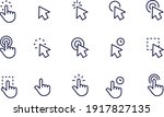 pointer and cursor line icons... | Shutterstock .eps vector #1917827135