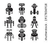robot icon set vector...   Shutterstock .eps vector #1917836918
