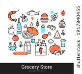 grocery store vector... | Shutterstock .eps vector #1917840455