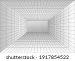 perspective grid room.... | Shutterstock .eps vector #1917854522