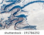 aerial view of canyon  alberta...