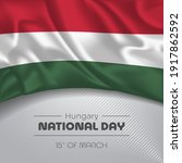 hungary happy national day... | Shutterstock .eps vector #1917862592