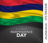 mauritius happy independence... | Shutterstock .eps vector #1917863348