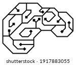 vector printed circuit board... | Shutterstock .eps vector #1917883055