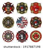 fire department badges ... | Shutterstock .eps vector #1917887198