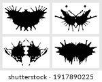 ink blot for psychiatric... | Shutterstock .eps vector #1917890225
