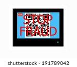 modern lcd screen with sign qr... | Shutterstock . vector #191789042