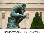 The thinking in rodin museum in ...