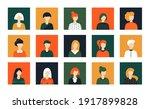 set of human avatars....   Shutterstock .eps vector #1917899828