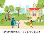 hildren go back to school ...   Shutterstock .eps vector #1917901115