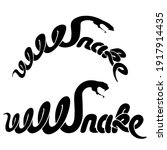 calligraphy style word snake ... | Shutterstock .eps vector #1917914435