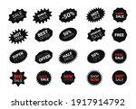 starburst sticker set for promo ... | Shutterstock .eps vector #1917914792