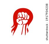 revolution fire flame punch... | Shutterstock .eps vector #1917934238