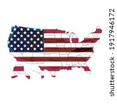 detailed usa map with us flag....   Shutterstock .eps vector #1917946172