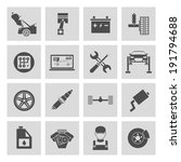 auto car service icons set of... | Shutterstock . vector #191794688