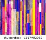 bright multi colored retro... | Shutterstock . vector #1917952082