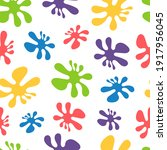abstract seamless pattern with... | Shutterstock .eps vector #1917956045