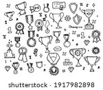 vector set of isolated elements ... | Shutterstock .eps vector #1917982898
