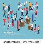 isometric political systems... | Shutterstock .eps vector #1917988205
