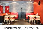 Stock photo beautiful brand new european restaurant in downtown 191799278