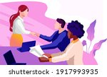 female diverse businesspeople... | Shutterstock .eps vector #1917993935