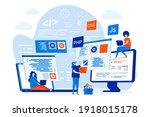 programming courses web design... | Shutterstock .eps vector #1918015178