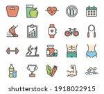 exercise program  run  fitness  ...   Shutterstock .eps vector #1918022915