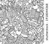 cartoon doodles new york... | Shutterstock .eps vector #1918044368