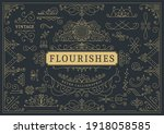 flourishes calligraphic vintage ... | Shutterstock .eps vector #1918058585