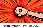 hand fist. raised arm fist with ...   Shutterstock .eps vector #1918059962