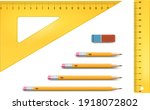 yellow ruler instruments and... | Shutterstock .eps vector #1918072802