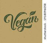 vegan typography vector design  ... | Shutterstock .eps vector #1918096058