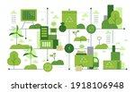 green city life. ecological... | Shutterstock .eps vector #1918106948