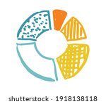 pie diagrams hand drawn icons.... | Shutterstock .eps vector #1918138118