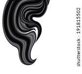 hanging wavy plume of brunette... | Shutterstock . vector #191815502