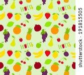 fresh natural fruit seamless... | Shutterstock . vector #191815505