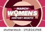 women's history month.... | Shutterstock .eps vector #1918161968
