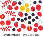 vector flat abstract fruit set. ...   Shutterstock .eps vector #1918190108