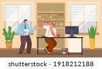 boss screams on employee... | Shutterstock .eps vector #1918212188