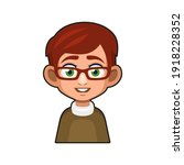 cute young man with glasses... | Shutterstock .eps vector #1918228352