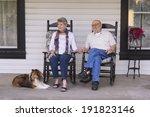 an elderly married couple in... | Shutterstock . vector #191823146