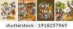 animals. vector flat... | Shutterstock .eps vector #1918257965